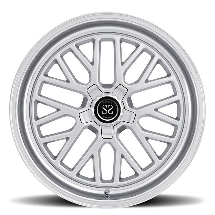 silver aluminium alloy 1 piece forged wheel via jwl standard for car